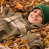 November 6, 2009   Number two grandson Johnny was relaxing in the leaves  after helping with the raking this past weekend... John will be 13 years old next week.